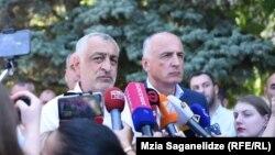 Мамука Хазарадзе (слева) и Бадри Джапаридзе (архив)