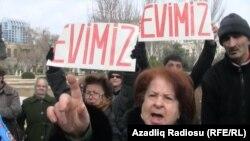 Prezident Administrasiyası qarşısında aksiya - 2012