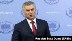 Одним із авторів законопроекту є голова Державної думи В'ячеслав Володін