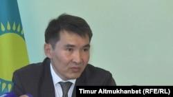 Бауыржан Байсеркин, представитель министерства здравоохранения и социального развития Казахстана. Павлодар, 13 июля 2016 года.