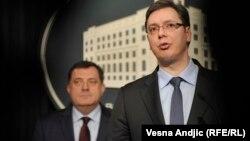 Aleksandar Vučić i Milorad Dodik