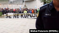 Protest ratnih veterana u Sarajevu