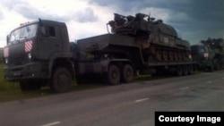 """Колонна """"Буков"""" на пути из Курска в Ростовскую область"""
