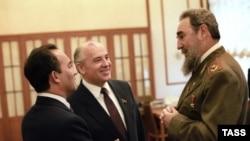 Горбачов посреща президента на Куба Фидел Кастро в Кремъл. Москва, 1986 г.