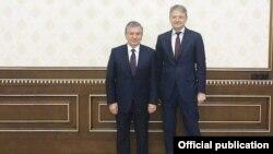 Президент Узбекистана Шавкат Мирзияев и министр сельского хозяйства России Александр Ткачев, сентябрь 2017 года.