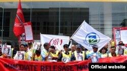 jتجمع کارگران تایلندی در همبستگی با مردم و کارگران ایرانی
