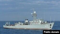 """Украинаның Ресей әскерилері басып алған """"Черкассы"""" кемесі. 25 наурыз 2014 жыл."""
