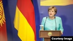 Меркель в Бишкеке, 14 июля 2016 года.
