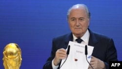 FIFA President Sepp Blatter announced Qatar's victory on December 2 to host the 2022 World Cup.
