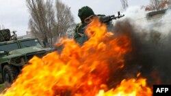 Учения российского военного спецназа. Волгоградская область, 4 апреля 2014 года.