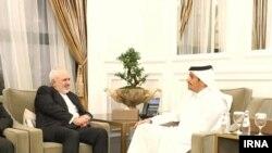 محمد بن عبدالرحمن آل ثانی، وزیر خارجه قطر و محمد جواد ظریف