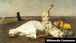 Юзэф Хэлмоньскі, «Бабіна лета» (1875).