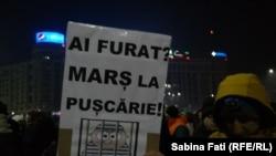 La protestul din București