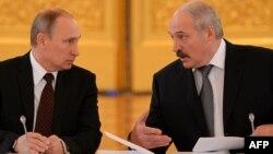 Ռուսաստանի և Բելառուսի նախագահներ Վլադիմիր Պուտին և Ալեքսանդր Լուկաշենկո, Մոսկվա, 25-ը դեկտեմբերի, 2013թ․