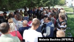 Шахтеры – участники акции протеста в Хакасии