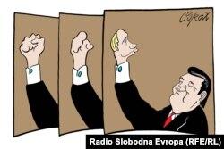 Caricatură de Predrag Koraksić Corax
