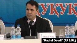 Представитель государственного комитета национальной безопасности Таджикистана Мухаммад Саидов. Душанбе, 26 ноября 2019 года.