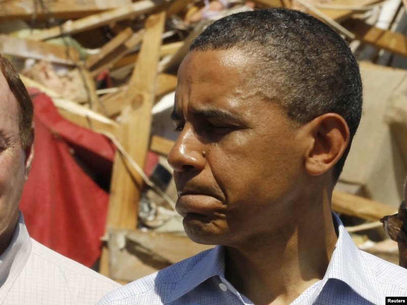 1932 alabama tornadoes. Obama Views Tornado