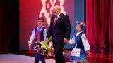 Аляксандар Лукашэнка на ўрачыстым сходзе, 2 ліпеня