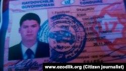 У Собира Шукурова было обнаружено водительское удостоверение, выданное в Узбекистане.