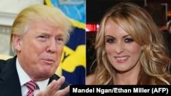 Președintele Donald Trump și actrița porno Stormy Daniels