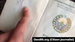 Өзбекстандын паспорту. Иллюстрация