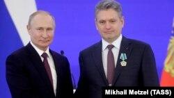Рускиот претседател Владимир Путин и Николај Малинов
