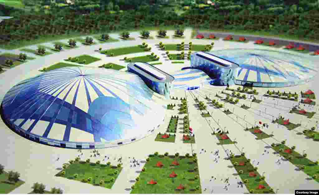 The new ice-hockey stadium will look like this after it is constructed.