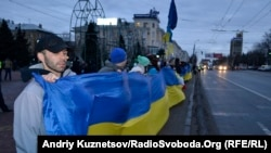 Митинг сторонников евроинтеграции Украины.