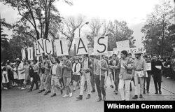 Студенттердин демонстрациясы. Мехико, 13-август, 1968-жыл.