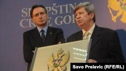 Eduard Kukan i Ranko Krivokapić, 30. april 2013.