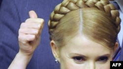 Tymoshenko after surviving the no-confidence vote