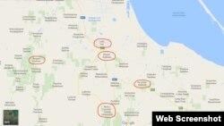 Google харитасында коммунистик исемнәрдән арындырылган торак пунктлары
