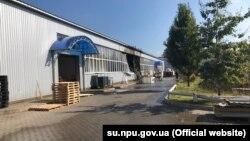 Наслідки вибуху на підприємстві (фото пресслужби поліції Сумської області)