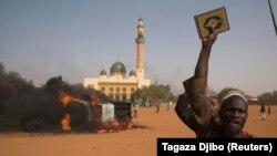 Pamje nga një protestë në Nigeri