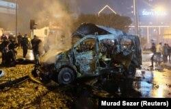 Последствия взрыва в Стамбуле. 10 декабря 2016 года