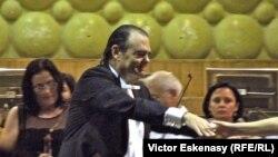 Rony Rogoff la concertul memorial Celibidache cu Filarmonica din Iași