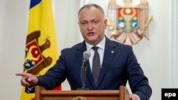 Moldovan President Igor Dodon said that all activities at the training ground were following a normal schedule. (file photo)