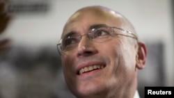 Михаил Ходорковский в Берлине на пресс-конференции 22 декабря