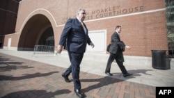 Pamje nga ndërtesa e gjykatës ku po mbahet procesi kundër Dzokhar Tsarnaevit