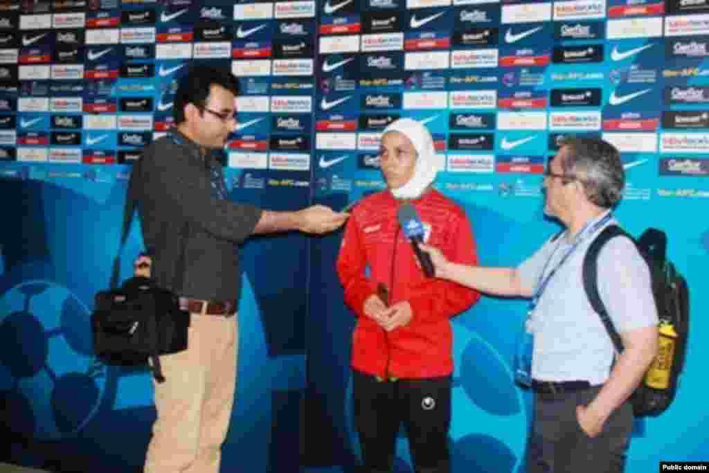 سارا شیرین بیگی، بهترین بازیکن زمین در دیدار ایران با هنگ کنگ