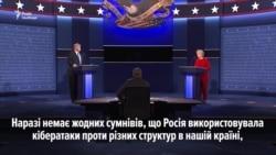 Питання про російські кібератаки у США під час теледебатів Трампа і Клінтон(відео)