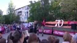 Праздничное выступление агитбригады по районам города Бендеры