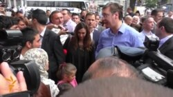 Serbian PM Meets Migrants In Belgrade