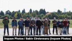 Aeronava C-130 Hercules a aterizat în jurul orei 13:00 pe pământ românesc, la Baza Aeriană 90