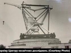 Встановлення антени МАRК-4В у 1986 році