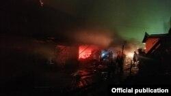 Пожар на Орто-Сайском рынке. 9 ноября 2020 года.