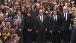 Minute Of Silence Held For Victims Of Paris Attacks