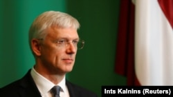 Latvian Prime Minister Krisjanis Karins (file photo)