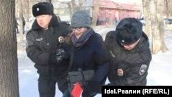 "Задержания на акции ""забастовка избирателей"" в Уфе. 28 января 2018 года"